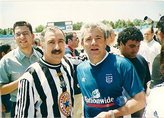 Kevin Keegan - Keegan as England manager with a Newcastle United fan in Malta