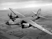 B-26B bomber in flight