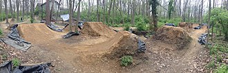 Freestyle BMX - Freshly faced dirt jumps at a set of BMX trails in Indiana.