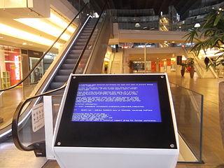 Failed info kiosk.