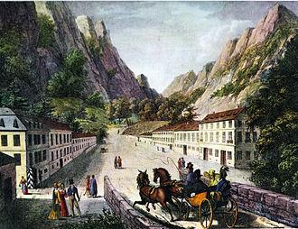 Băile Herculane - Image: Baile Herculane road 1824