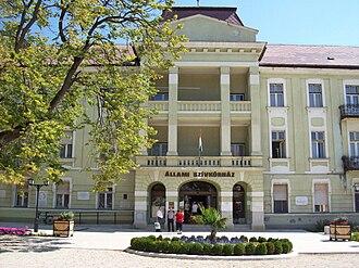"Healthcare in Hungary - Állami Szívkórház (""State Heart Hospital"") in Balatonfüred, resort town by Lake Balaton"