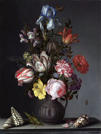 Balthasar van der Ast - Flowers in a Vase with Shells and Insects, c. 1628, National Gallery