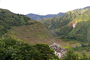 Rice Terraces of the Philippine Cordilleras - Image: Banaue Philippines Batad Rice Terraces 01