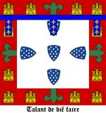 Armoiries du prince Henri, dit le Navigateur, avec leur devise «talent de bien faire».