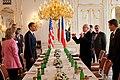 Barack Obama meets with Václav Klaus in Prague 4-5-09.JPG