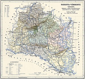 Baranya County (former) - Baranya County in the 20th century
