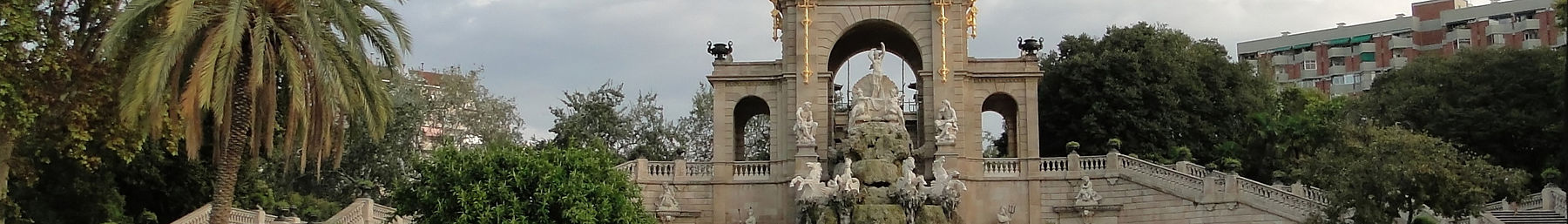 Public art above the fountain of Ciutadella Park in Ciutat Vella