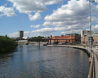 bridge between Norrmalm and Kungsholmen in Stockholm, Sweden