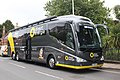Barnstaple - Direct Energie team coach CV386AF.JPG