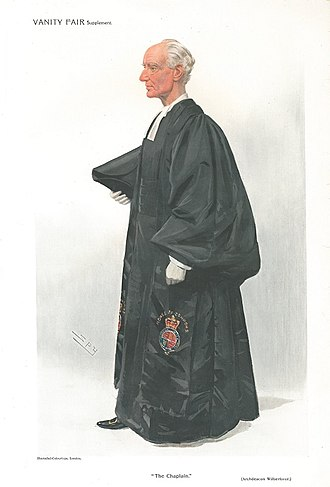 "Basil Wilberforce - ""The Chaplain"", caricature by Spy in Vanity Fair, 1909."