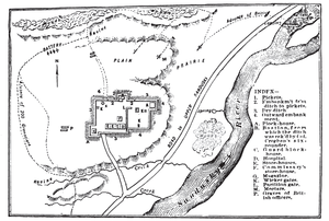 Battle of Fort Stephenson - Battle depicted in 1912 history book