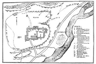 Battle of Fort Stephenson - Battle depicted in 1912 history book