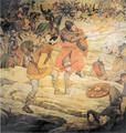 Battle of Largs by William Hole.png
