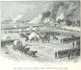 Battle of Savage's Station - Image: Battle of Savage's Station