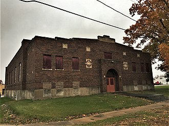 National Register of Historic Places listings in Elkhart County, Indiana - Image: Baugo Township Gymnasium NRHP 16000903 Elkhart County, IN