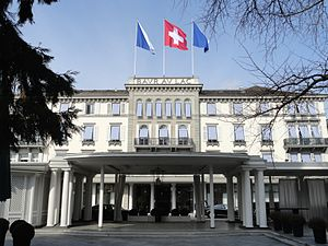 2015 FIFA corruption case - Hotel Baur au Lac, Zürich, where seven FIFA officials were arrested on November 19, 2016