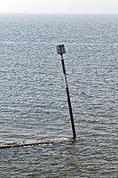 Bay danger mark at at Margate Kent England.jpg