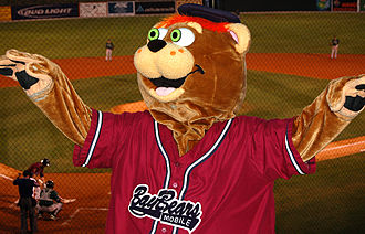 "Mobile BayBears - ""Teddy"", mascot of the BayBears"