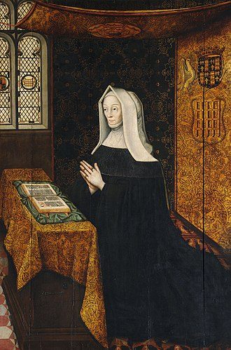 St John's College, Cambridge - Hall portrait of the foundress Lady Margaret Beaufort by Rowland Lockey
