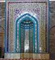 Beautiful mosaic work inside the Juma Mosque (37278452942).jpg