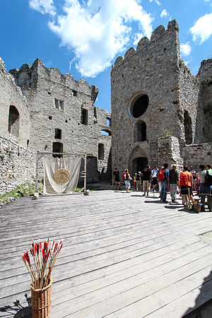 Crisis of the Late Middle Ages - Ruins of Beckov Castle in Slovakia