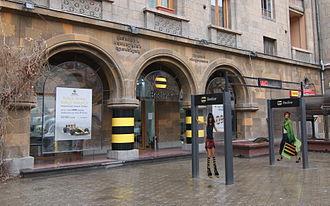Telecommunications in Armenia - A Beeline service store on Amiryan Street in downtown Yerevan