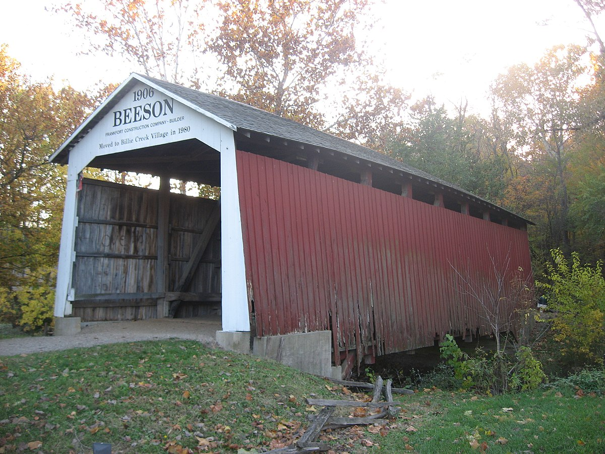 Beeson Covered Bridge Wikipedia Burr Arch Truss Diagram Penn Central Savage Maryland