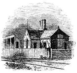 Beeston railway station in 1840