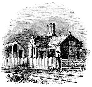 Beeston railway station - The station in 1840