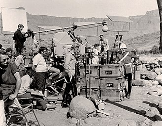 Zulu (1964 film) - A break in shooting on location with stars Michael Caine and Stanley Baker present.