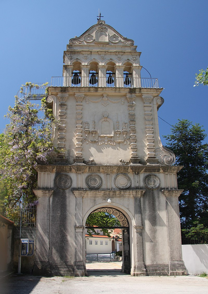 Bell tower of the Monastery of Agios Gerassimos.jpg