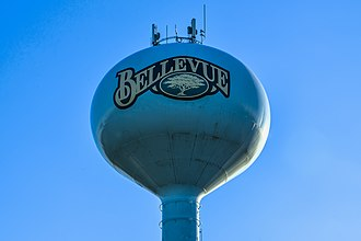 Bellevue, Wisconsin - Image: Bellevue Water Tower