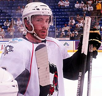 Ben Street (ice hockey) - Street as a member of the Wilkes-Barre/Scranton Penguins during the 2012 Calder Cup playoffs