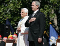 Benedictus and Bush National Anthem 2008.jpg