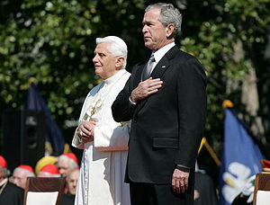 President George W. Bush and Pope Benedict XVI...