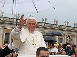 Pope Benedict XVI during general audition