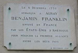 Bagatelles and Satires - Image: Benjamin Franklin plaque Auray