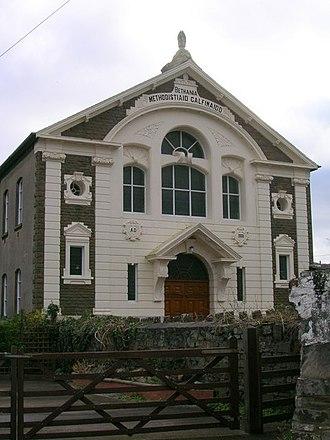 Glanamman - Image: Bethania Calvinistic Methodist Chapel, Glanaman geograph.org.uk 1562543
