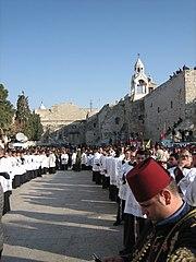 Catholic procession on Christmas Eve in Bethlehem, 2006