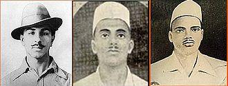 Revolutionary movement for Indian independence - Bhagat Singh, Sukhdev Thapar, and Shivaram Rajguru