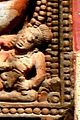 Bhubaneshwar, Vaital Deul Temple, detail (2) warior with bun hairstyle.jpg