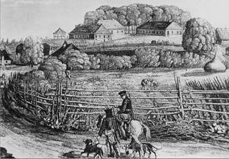 Białowieża - Białowieża hill in 1820