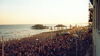 Fatboy Slim - 13 July 2002. The Big Beach Boutique II, where more than 250,000 people saw Fatboy Slim play live.