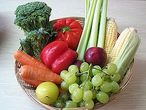 Basket of Fruit and Vegetables