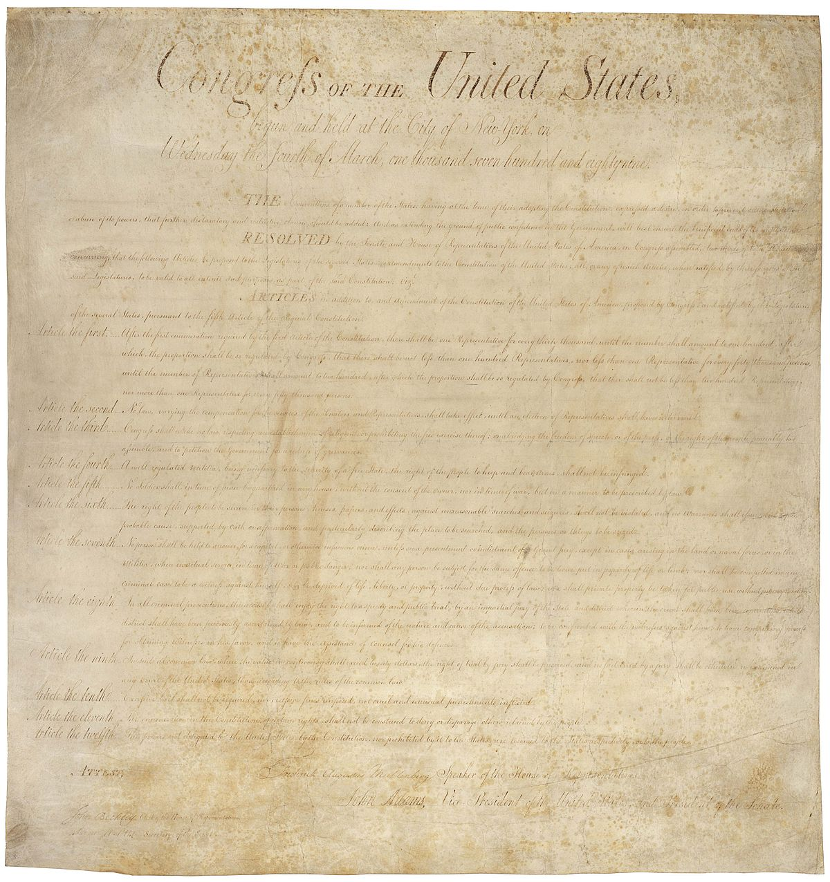 united states bill of rights - wikipedia
