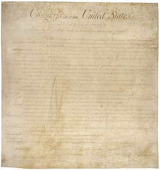Bill of rights - Draft of the United States Bill of Rights, also from 1789