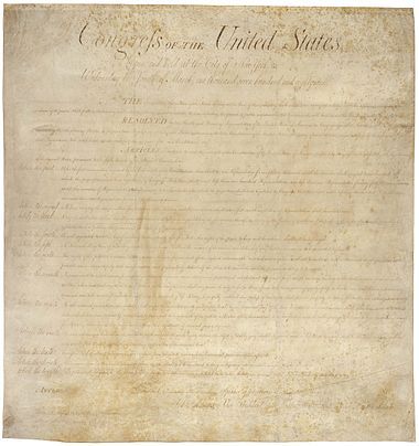 The Bill of Rights in the National Archives Bill of Rights Pg1of1 AC.jpg