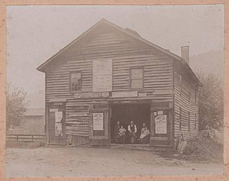 Baldwin, Chemung County, New York - Blacksmith shop in North Chemung, formerly known as Hammond's Corners 1897 - Courtright Collection
