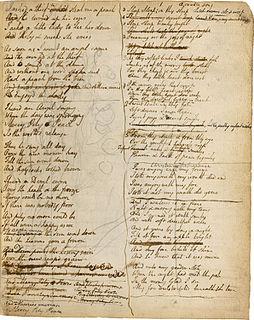 Notebook of William Blake manuscript